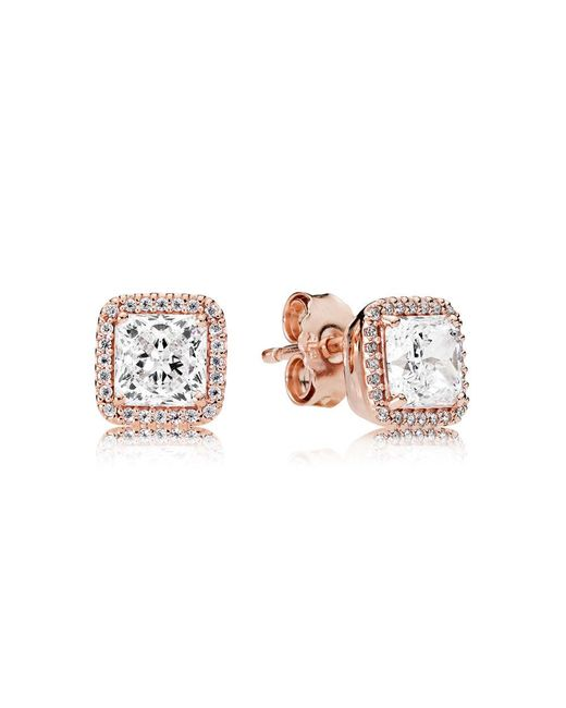 Pandora - Multicolor Timeless Elegance Stud Earrings - Lyst