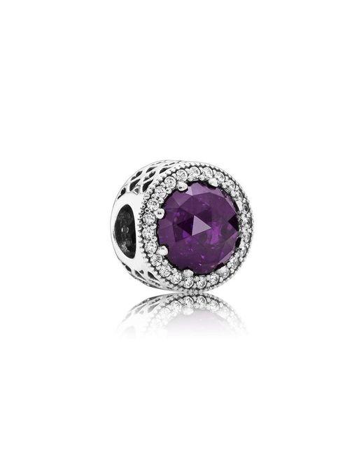 Pandora   Royal Purple Radiant Hearts Charm   Lyst