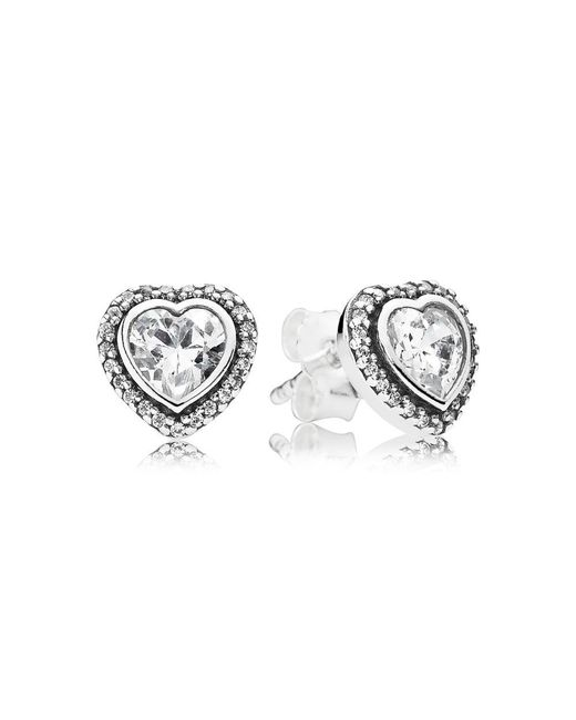 Pandora - Metallic Sparkling Hearts - Lyst