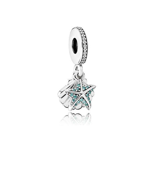Pandora | Metallic Tropical Starfish & Sea Shell Pendant Charm | Lyst