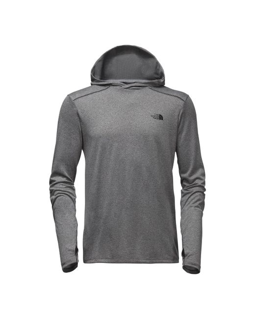The North Face - Gray Reactor Hoodie for Men - Lyst