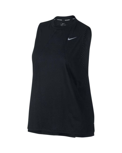 Nike - Black Tailwind Cool Tank - Lyst