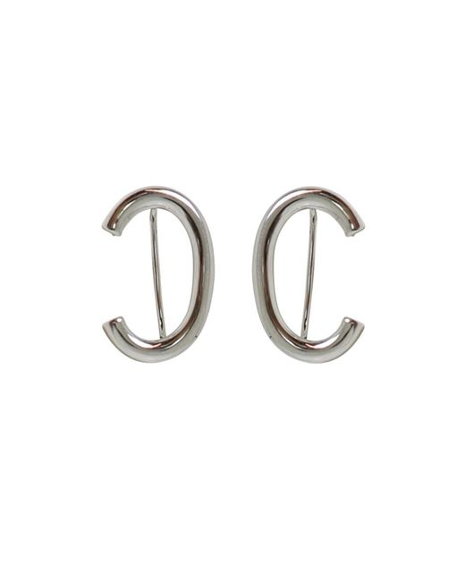 Jennifer Fisher | White Curved Smooth Earrings Silver | Lyst
