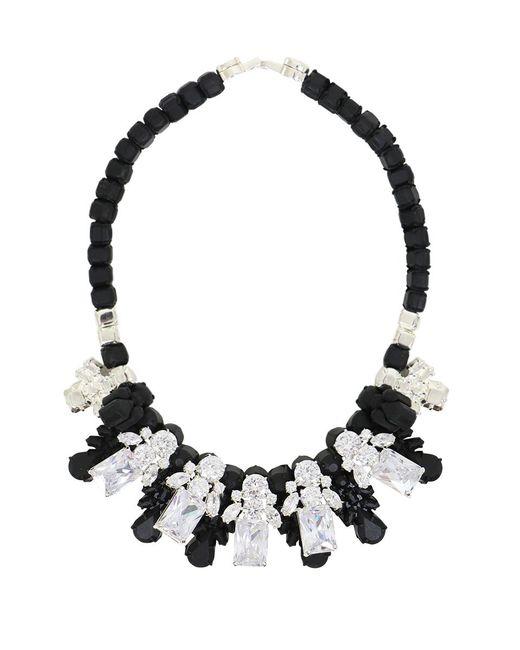 EK Thongprasert | Silicone Five Jewel & Metal Neckpiece Black/white Crystals | Lyst
