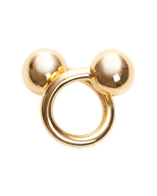 Jennifer Fisher   Metallic Large Double Ball Ring Yellow Gold   Lyst