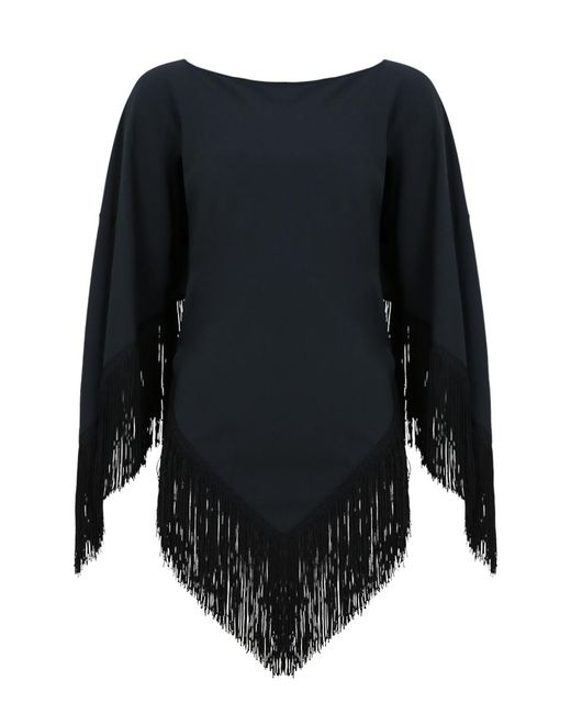 Balenciaga - Multicolor Foulard Fringe Top Dark Charcoal - Lyst