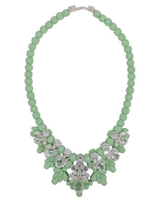 EK Thongprasert | Green Silicone Seven Jewel Neckpiece Mint/white Crystals | Lyst