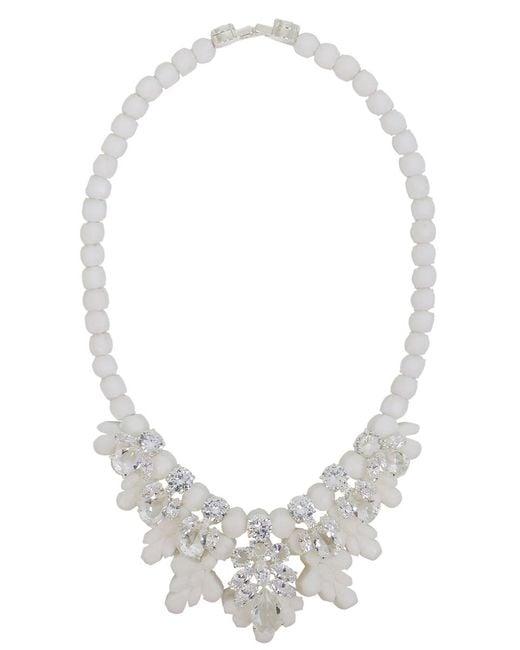 EK Thongprasert - Silicone Seven Jewel Neckpiece White/white Crystals - Lyst