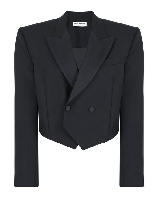 Balenciaga - Boxy Tuxedo Jacket Black - Lyst
