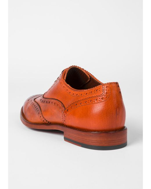 791d9b9f692 ... Paul Smith - Brown Tan Leather 'munro' Flexible Travel Brogues for Men  ...