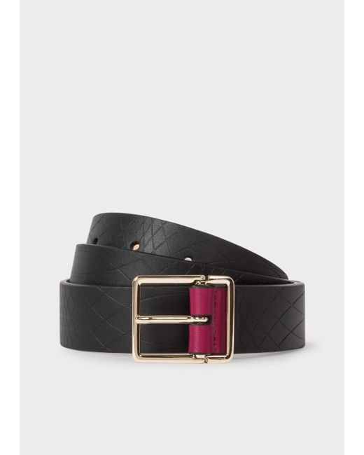 Paul Smith | No.9 - Men's Black Leather Belt With Contrast End for Men | Lyst