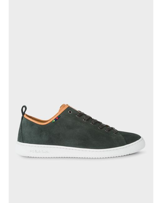 Paul Smith - Dark Green Suede 'Miyata' Trainers for Men - Lyst