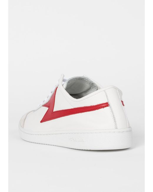 e630447a68555 Lyst - Paul Smith White  Ziggy  Calf Leather Trainers in White for Men