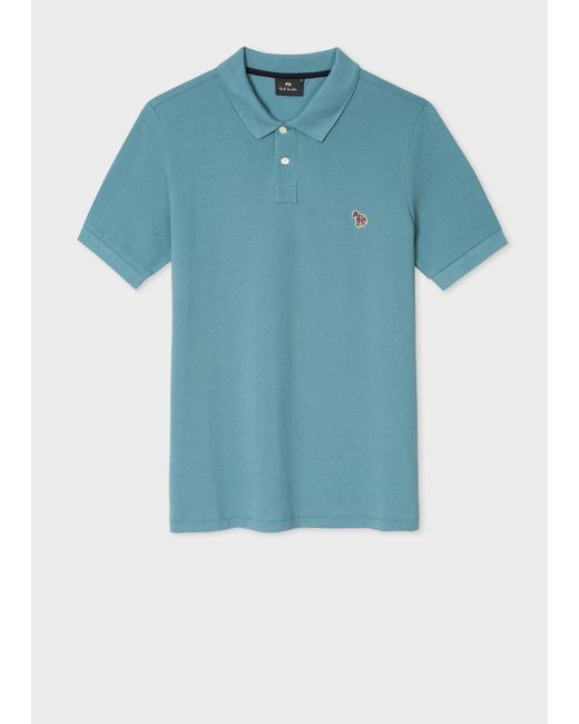 dcb12376a9cb Paul Smith - Blue Teal Organic Cotton-Piqué Zebra Logo Polo Shirt for Men  ...