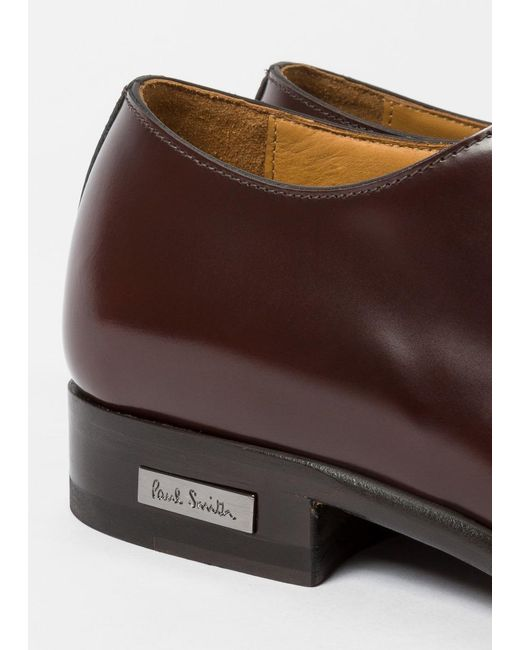 Paul Smith Brown Men S Burdy Leather Spencer Derby Shoes For