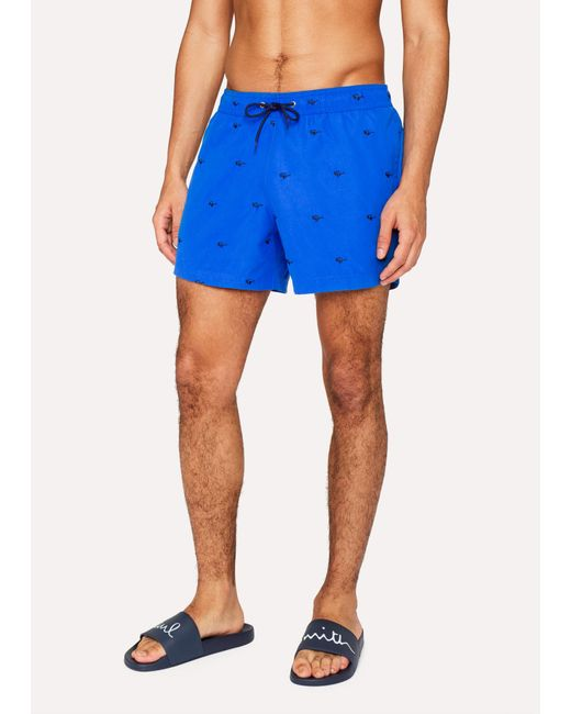 Paul Smith - Blue Short De Bain Bleu Marine 'Dino' for Men - Lyst