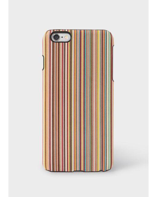 Paul Smith - Multicolor Signature Stripe Leather Iphone 6 Plus Case - Lyst