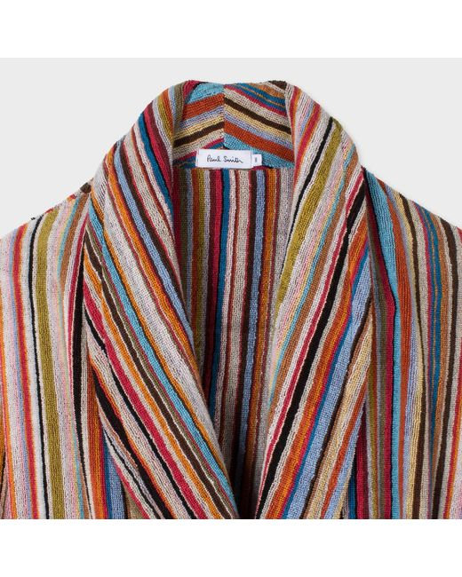 Paul Smith | Red Men's Signature Striped Towelling Dressing Gown for Men | Lyst
