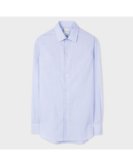 Paul smith men 39 s tailored fit light blue pinstripe shirt for Light blue pinstripe shirt