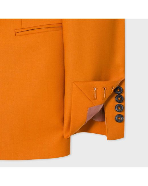 Paul Smith Women S Burnt Orange Wool Double Breasted