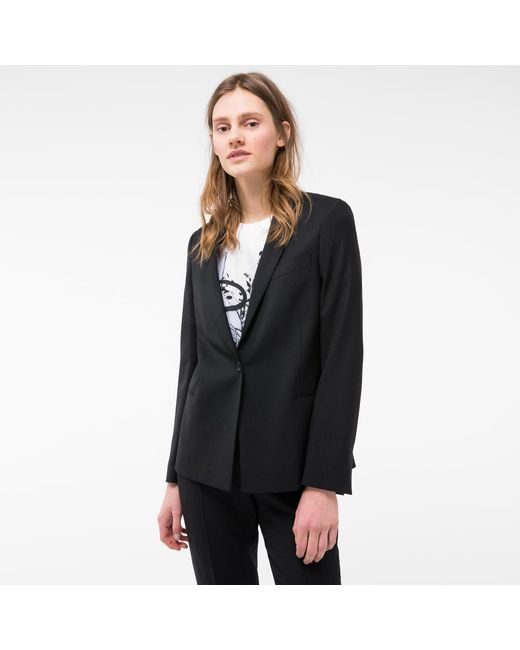 Paul Smith | Women's Black Wool Blazer | Lyst
