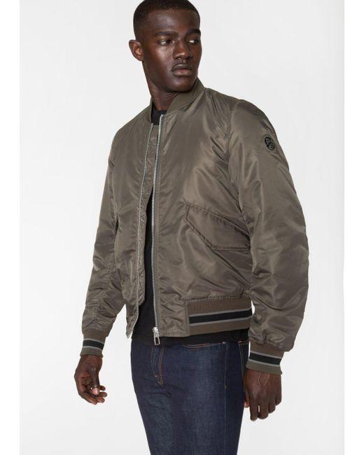 Paul Smith | Gray Men's Slate Grey Bomber Jacket for Men | Lyst