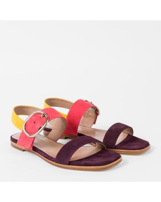 Paul Smith | Multicolor Women's Colour-block Suede 'rozelle' Sandals | Lyst