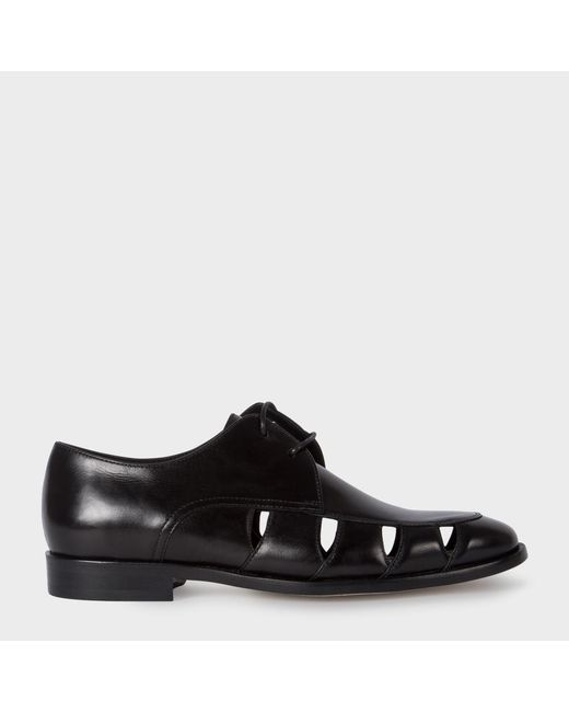 Paul Smith | Women's Black Leather 'rowan' Shoes With Cut-out Detail | Lyst