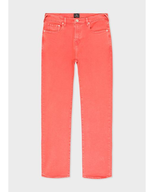 Paul Smith - Pink Slim-standard Coral Red Jeans for Men - Lyst