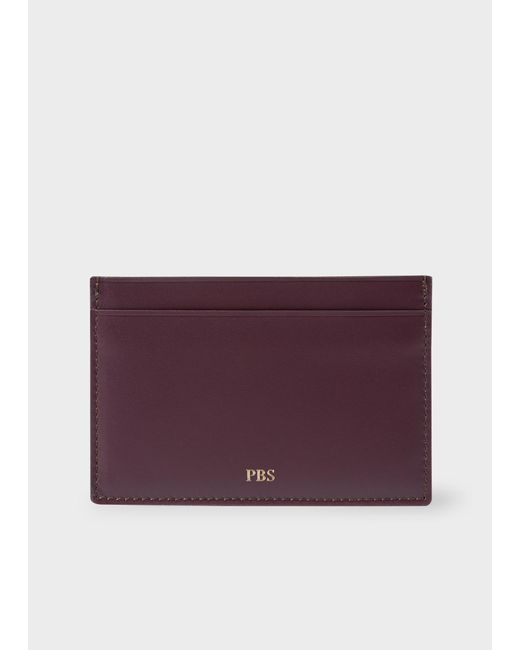 Purple Leather Credit Card Holder RqtsTaA