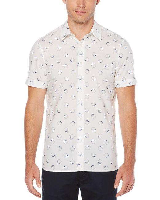 Perry Ellis - White Big & Tall Short Sleeve Circle Shirt for Men - Lyst