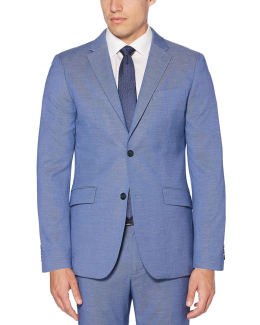 Perry Ellis - Blue Slim Stretch Heather Neat Suit Jacket for Men - Lyst