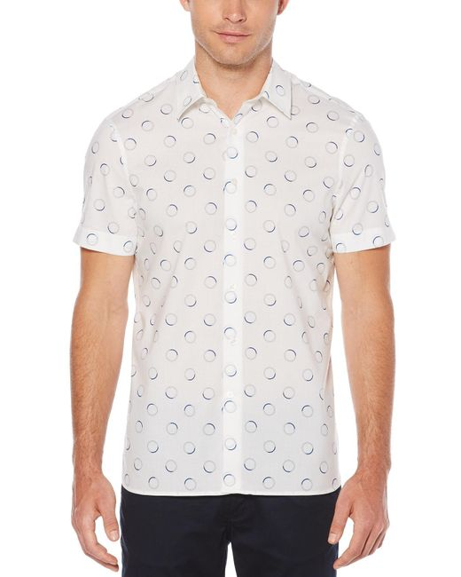 Perry Ellis - White Big & Tall Short Sleeve Circle Shirt for Men - Lyst