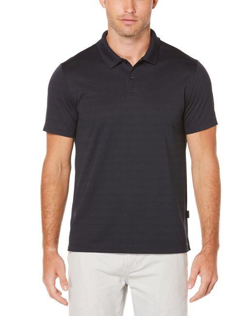 Perry Ellis - Black Short Sleeve Micro Stripe Polo for Men - Lyst