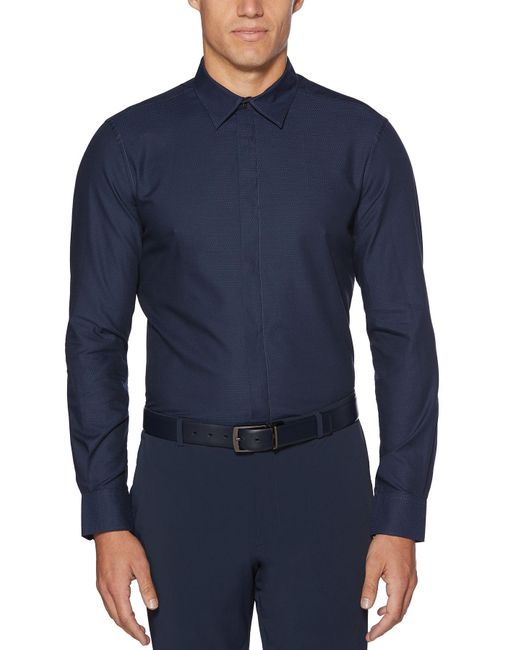 Perry Ellis - Blue Big & Tall Iridescent Scale Jacquard Shirt for Men - Lyst