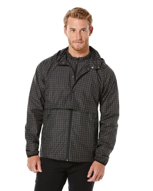 Perry Ellis - Gray Reflective Convertible Anorak Jacket for Men - Lyst