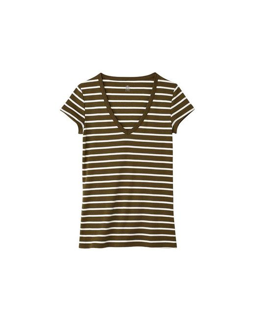 Petit Bateau | Natural Women's V-neck Tee In Sailor-striped Cotton | Lyst