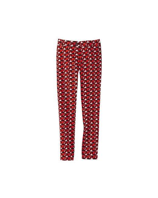 Petit Bateau   Red Women's Tight-fitting Pants With Striking Print   Lyst