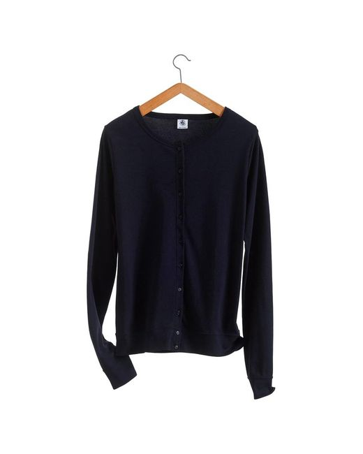 Petit Bateau | Black Women's Iconic Cotton Cardigan | Lyst