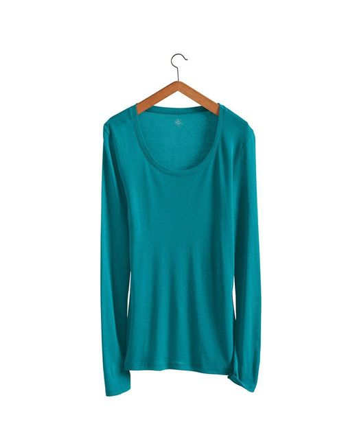 Petit Bateau | Blue Women's Long-sleeved Light Cotton Tee | Lyst