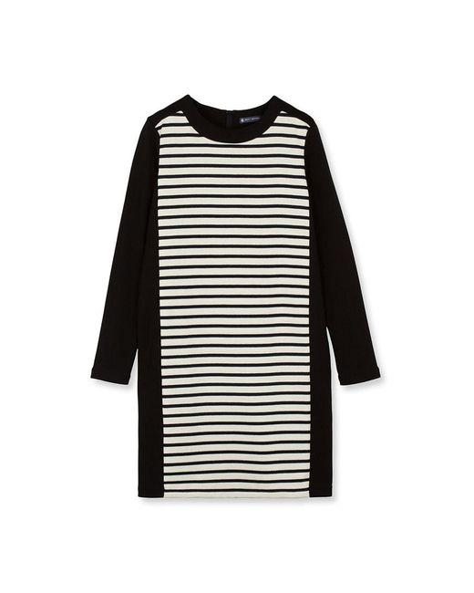 Petit Bateau | Black Women's Striped Shift Dress | Lyst