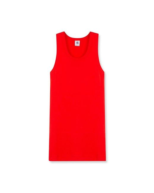 Petit Bateau | Red Women's Iconic Cotton Vest Top | Lyst