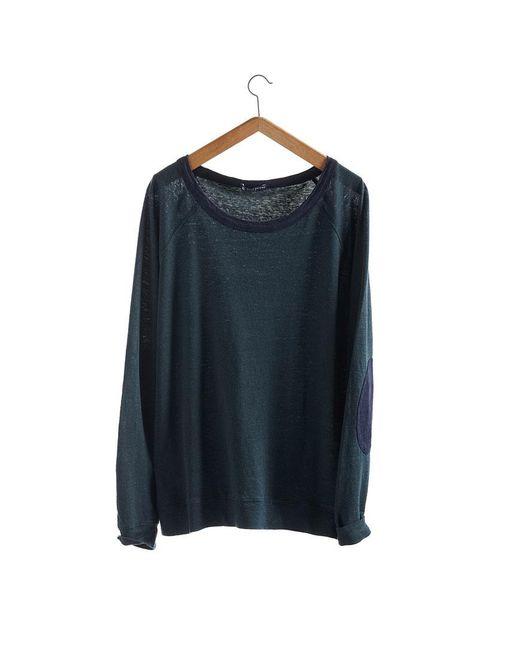 Petit Bateau | Gray Women's Long-sleeved Sweatshirt In Heavy Jersey Two-colored Linen | Lyst