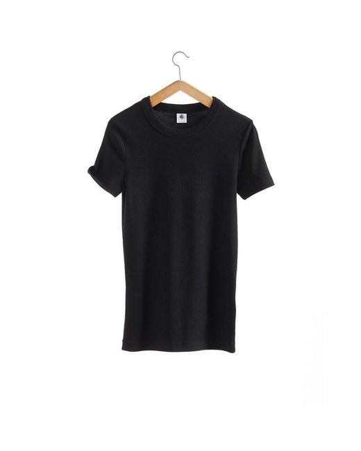 Petit Bateau | Black The Iconic Women's Round Neck Vintage Cotton Tee | Lyst