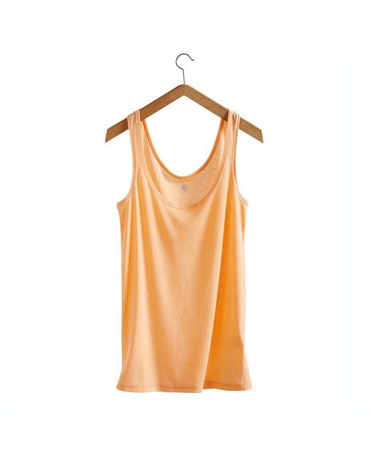 Petit Bateau | Orange Women's Light Cotton Tank Top | Lyst