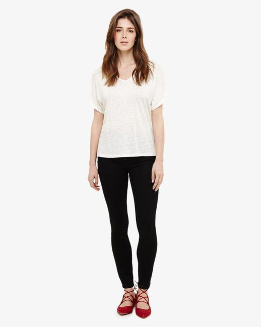 Phase Eight - Black Aida Contrast Stitch Jeans - Lyst