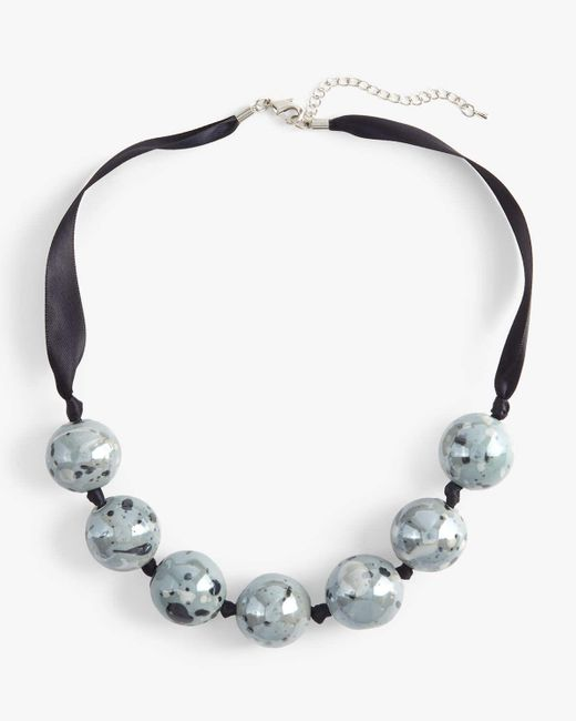 Phase Eight - Blue Briony Pattern Bead Necklace - Lyst