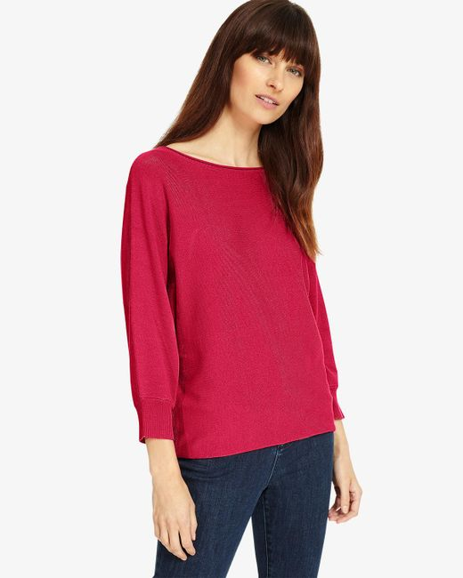 Phase Eight - Pink Becca Smart Batwing Knitted Jumper - Lyst