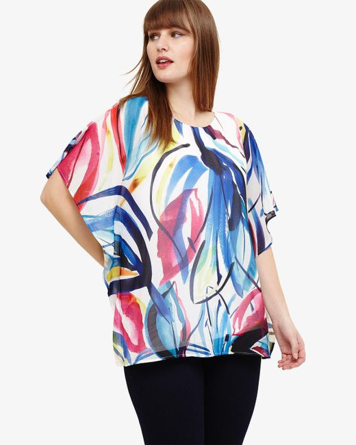 Phase Eight - Blue Diana Printed Top - Lyst