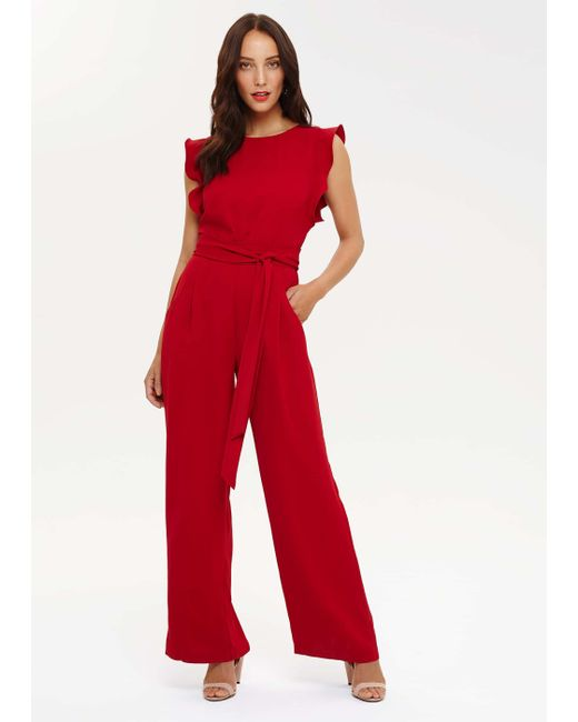 Phase Eight - Red Victoriana Jumpsuit - Lyst